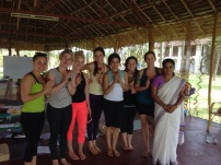 Ana Pilar and teacher training students (Kerala, India).
